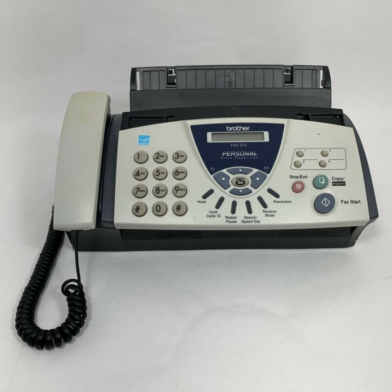 Brother Model 575 Personal Plain Paper FAX Phone Copier Machine See Pics of Item