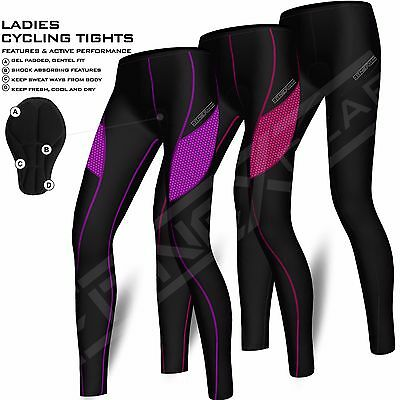 (Ladies Cycling Tights Padded Compression Leggings Cycle Womens Tights / Trousers)