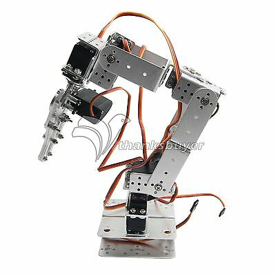Rot2u 6dof Mechanical Arm Robot Teaching Platform Multiangle Robotic Arm-silver