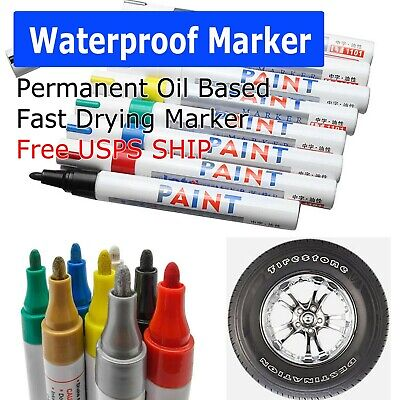 Waterproof Permanent Paint Marker Pen for Car Tyre Tire Tread Rubber Metal -