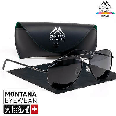 Sonnenbrille Herren Damen Polarisiert  UV400 leicht Pilotenbrille Schwarz leicht