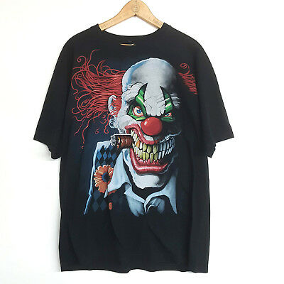 Men's Liquid Blue SCARY CLOWN Wicked Juggalo Supreme Huge Print Halloween XLarge - Juggalo Halloween