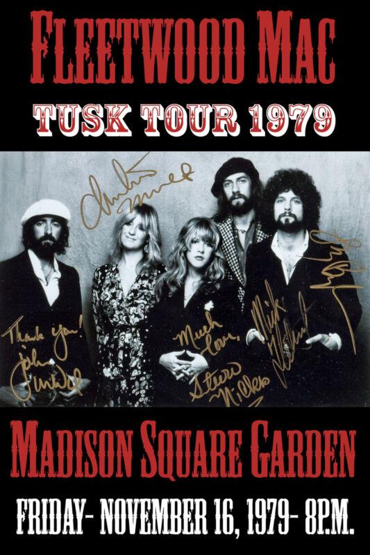 Fleetwood Mac at Madison Square Garden Concert Poster * Tusk Tour * 1979  12x18