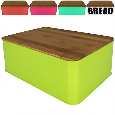 Brotkasten Brotbox Brotkiste Brot Brötchen Brotbehälter Schneidebrett Bambus NEU