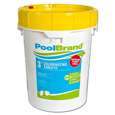 "50 lbs. Pool Variety 3"" Inch Swimming Pool Chlorine Tablets"