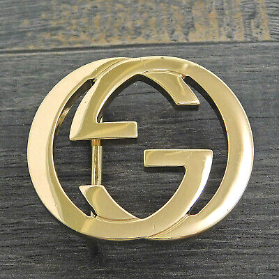 GUCCI Gold Plated Interlocking GG Logo Belt Buckle #1835be Rise-on