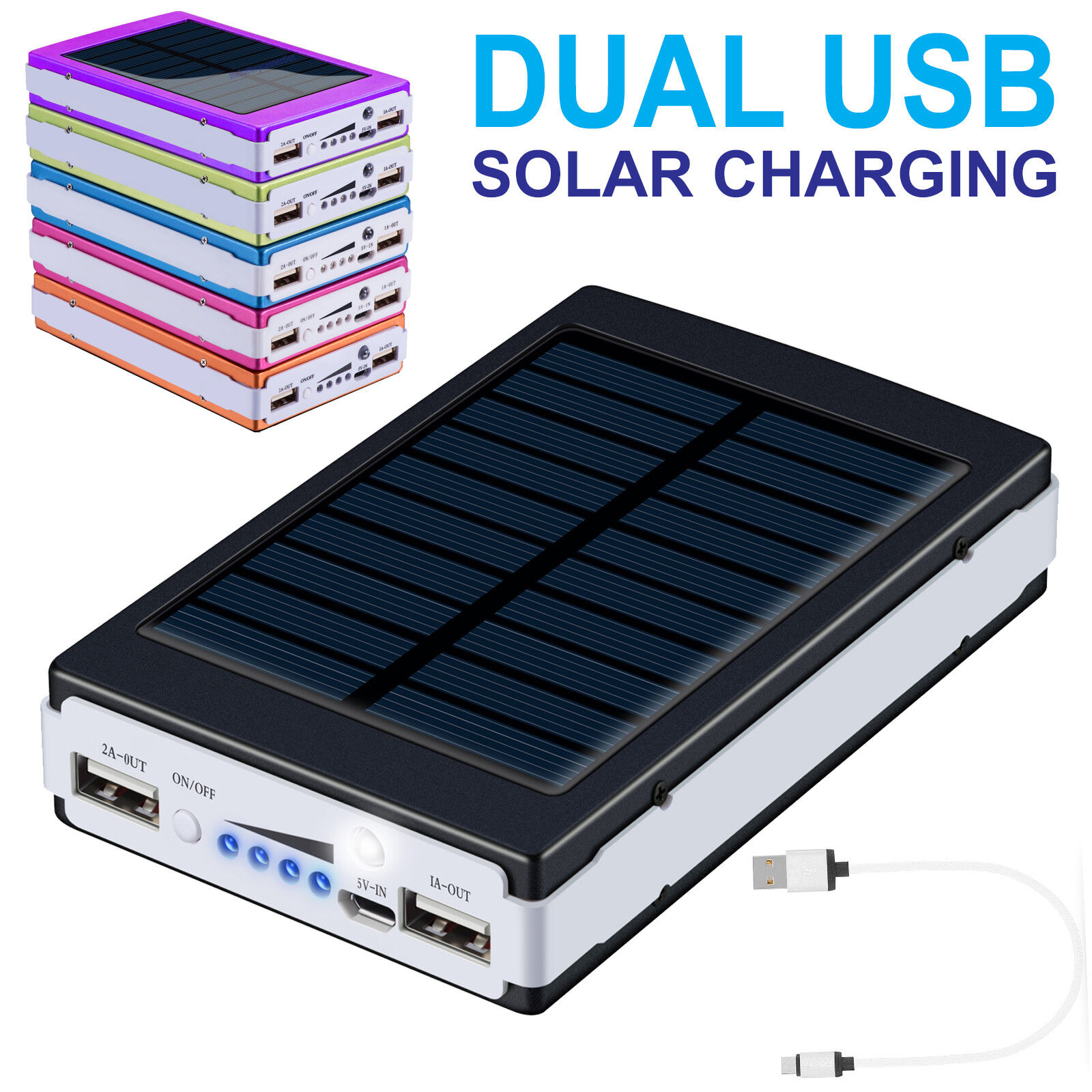 Portable 50000mAh External Power Bank Pack USB Battery Charger For Mobile Phone Cell Phone Accessories
