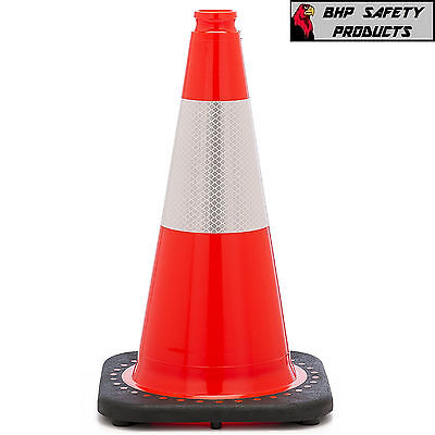 18 Orange Safety Trafficparking Cone W 3m Reflective Collar Jbc Revolution