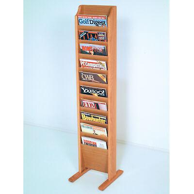 Floor Standing Magazine - Floor Stand Cascade Magazine Rack Literature Holder Phamphet Leaflet Display