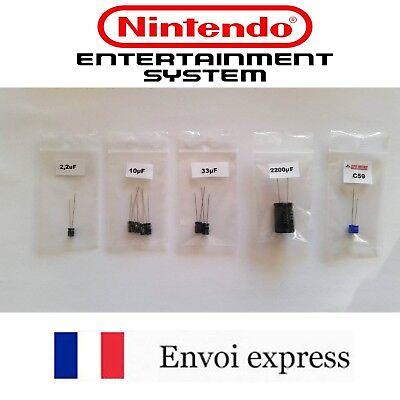 Cap Kit condensateurs - Super Nintendo SNES – Capacitors SNSP-CPU-01 SNSP-CPU-02