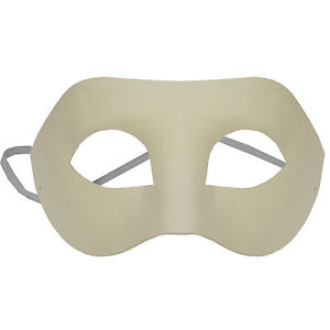 OMYGOD PLAIN WHITE EYE PAPER MACHE MASK TO DECORATE YOURSELF