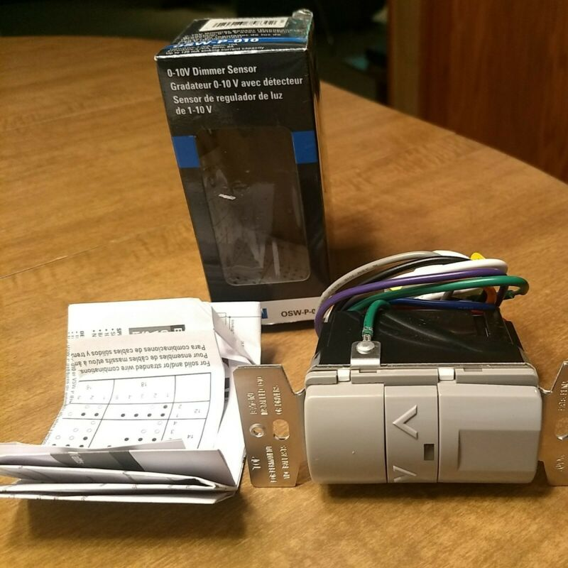 EATON 0-10V DIMMER SENSOR OSW-P-010 grey new missing screws & wire connectors