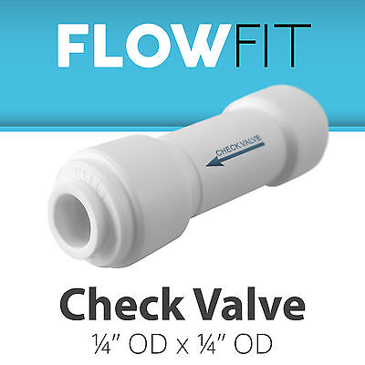 "لاعمال السباكة جديد Straight Check Valve 1/4"" Fitting Connection for Water Filters / RO Systems"