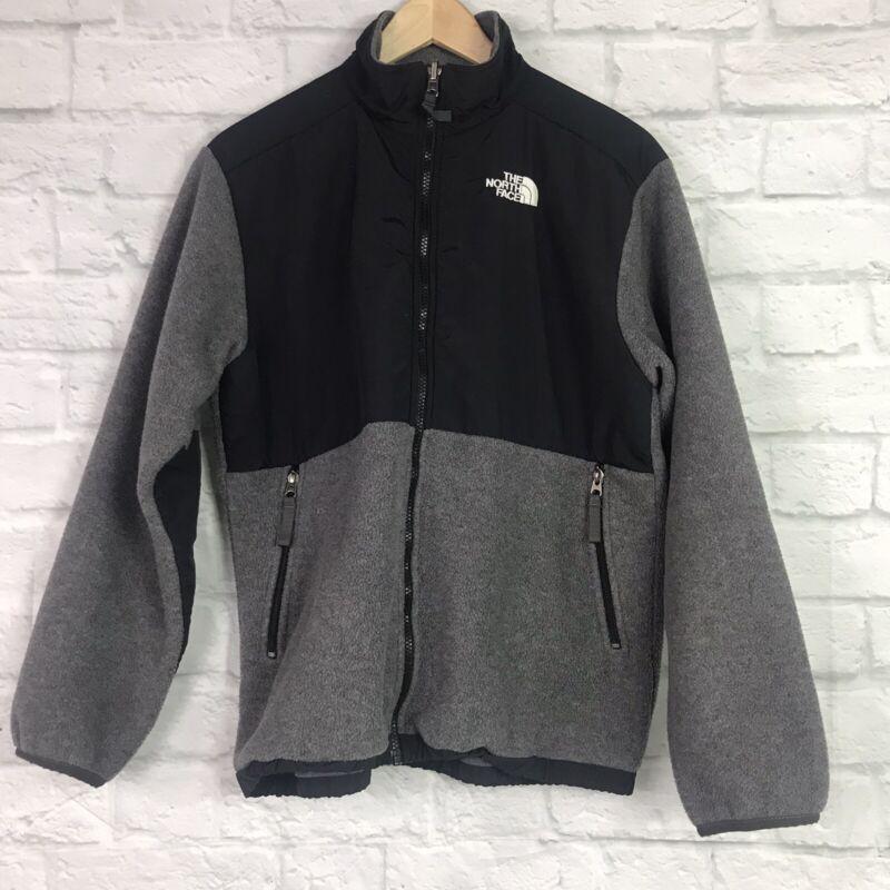 The North Face Boys XL Fleece Jacket Full Zip Gray Black