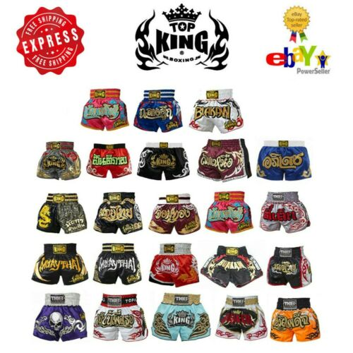 Top King Muay Thai Boxing Kick Boxing MMA Shorts Retro S M L XL 3L 4L