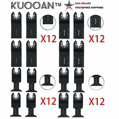 48pcs 1.33 1.77 In Oscillating Mix Saw Blades Multi Tool Kits Set Cutter Diy Us