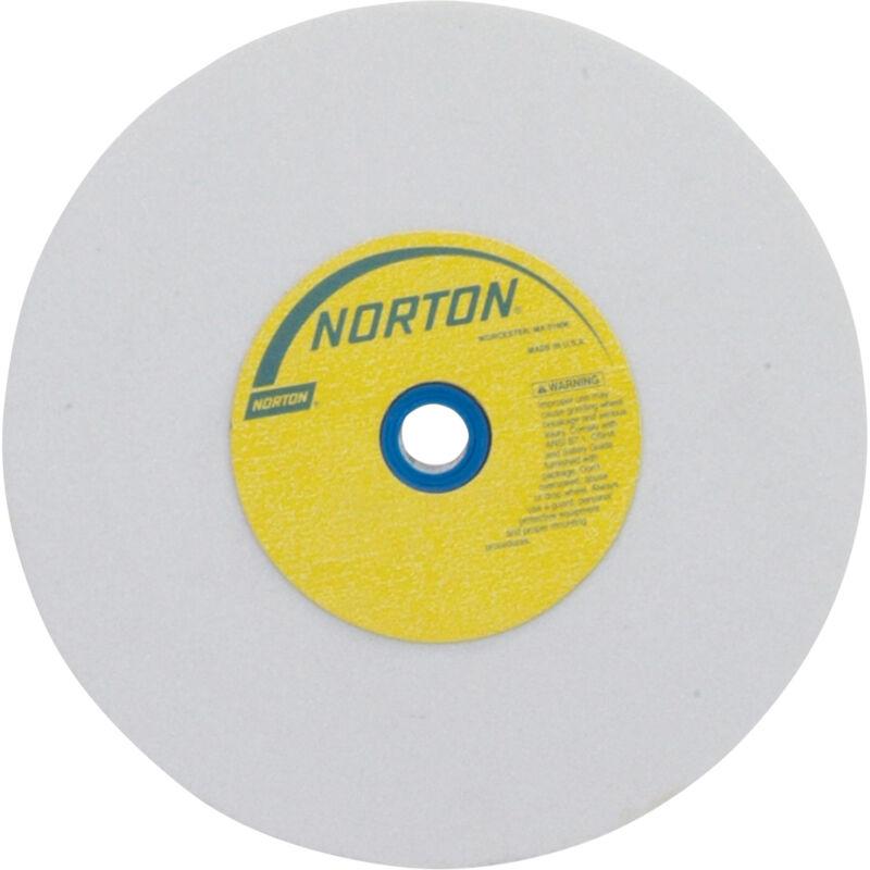 Norton Grinding Wheel - 8in. x 1in., White Aluminum Oxide, 60 Grit