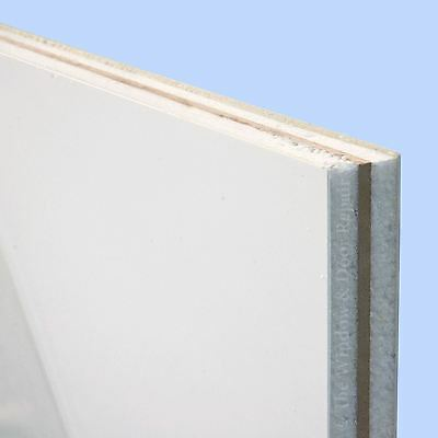 White UPVC Reinforced Flat Door Panel 20mm 24mm 28mm Thick Plastic Infill