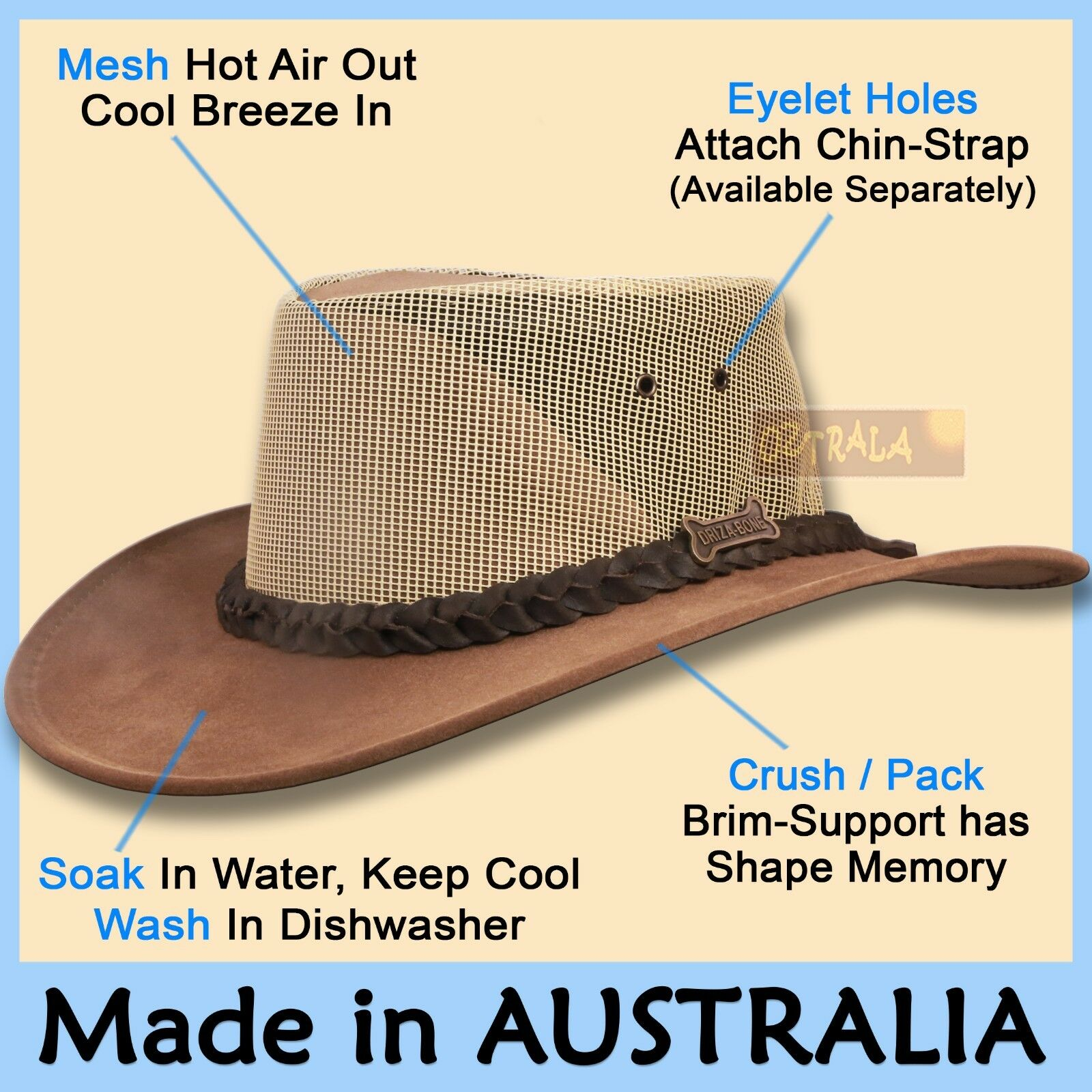 58c3634ed51 Головной убор для мужчины ○oZtrALa○ Driza-Bone Jacaru Hat Pu-Leather Felt  Mens Women AUSTRALIAN Cowboy NEW - 302656219207 - купить на eBay.com (США)  с ...