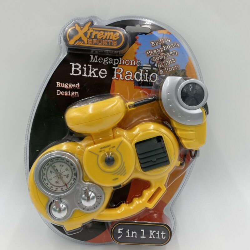 Megaphone Bike Radio 5 In 1 Xtreme Sports Megaphone-Compass-Light-Horn - NEW