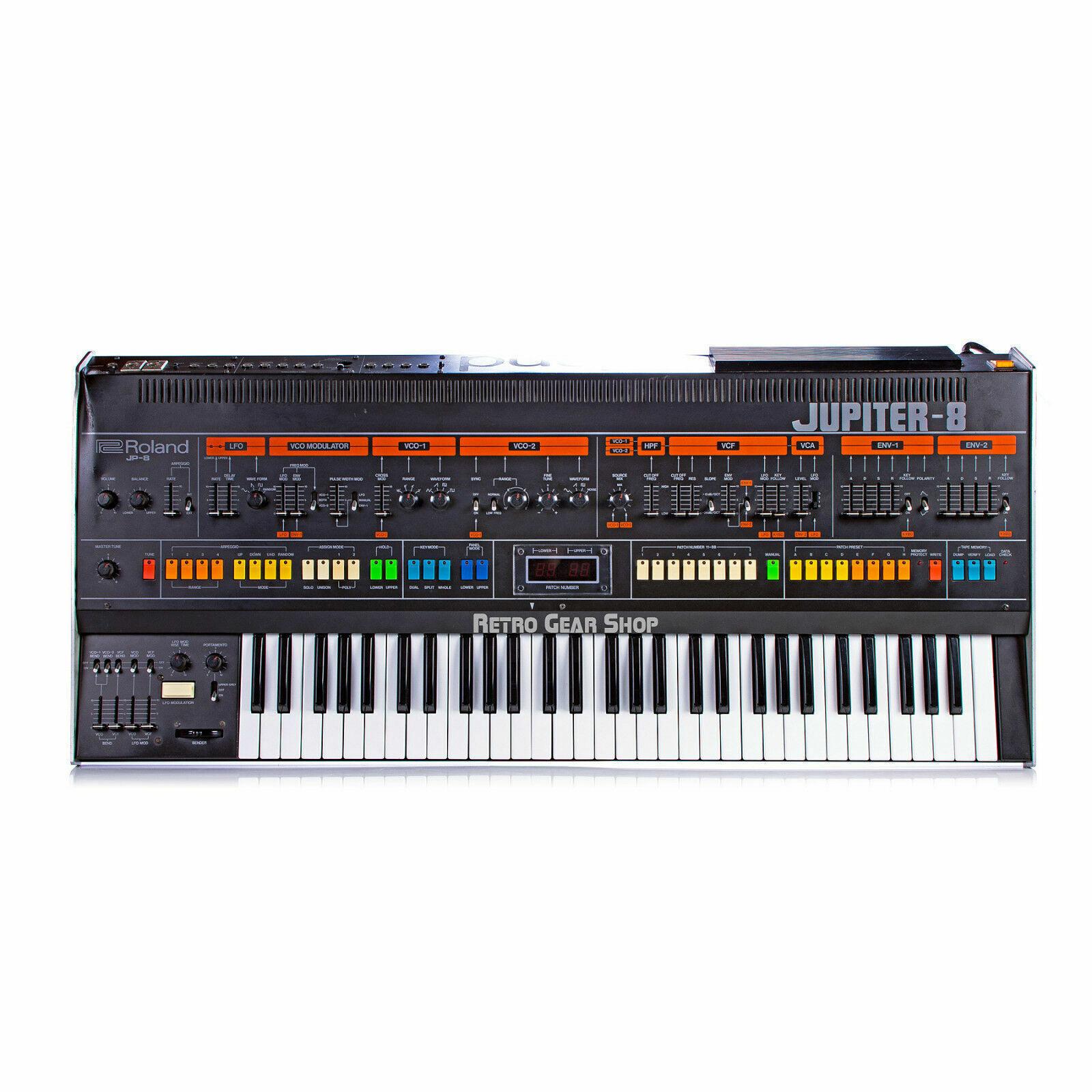 Synthesizer Synth Roland Vintage Jupiter Noisemakers ANALOG 8 T-Shirt NEW