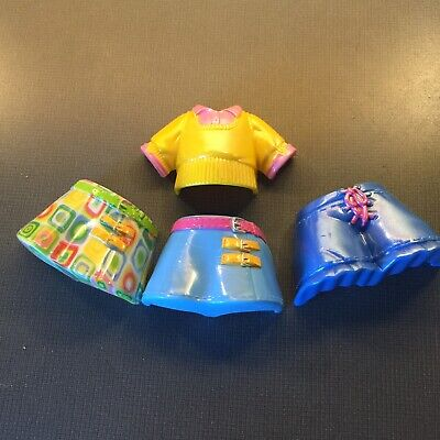 FISHER PRICE SNAP N STYLE Dolls~Shorts & Shirt LOT Of 4 Fast Shipping