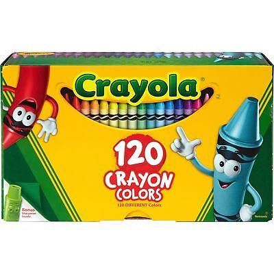 Crayola Crayons w/Sharpener 120/BX Ast - 120 Crayola Crayons