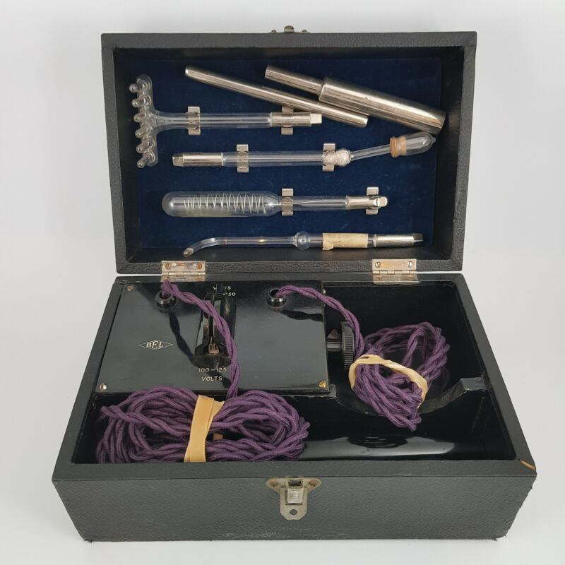 Vintage BEL Violet Ray Tesla Wand Machine - Very Rare Medical Therapy Antique