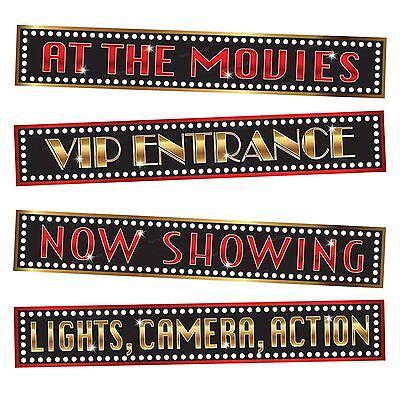 At The Movies Street Signs Party Decorations Oscar Wall VIP Awards Hollywood BN