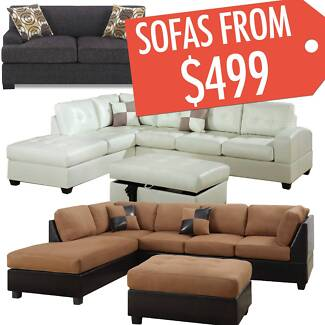 Brand New Sofas Lounges with Chaise and Ottoman ON SALE Now Five Dock Canada Bay Area Preview