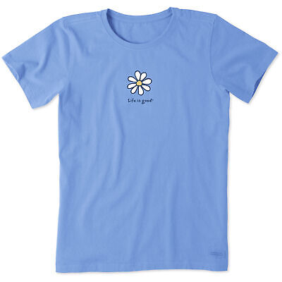 Womens Vintage Daisy (Life is Good. Womens Vintage Crusher Tee: Daisy , Powder Blue)