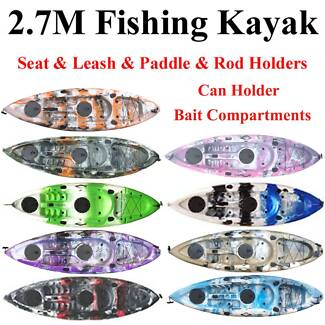 Oct sale 2.7M fishing kayak with most features