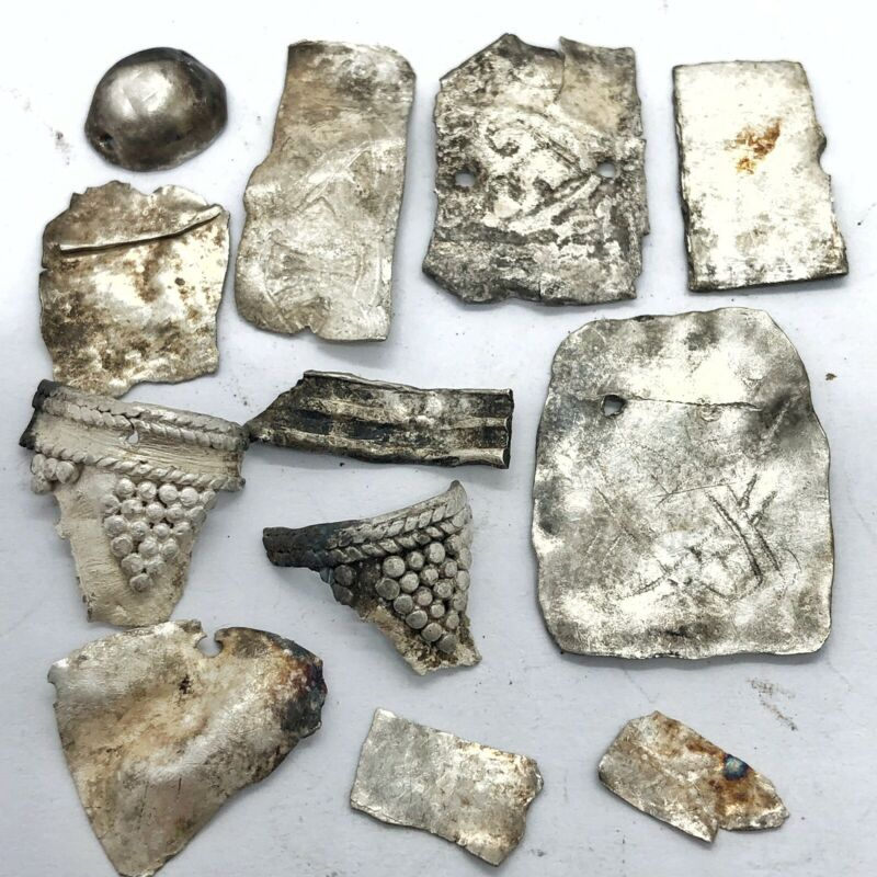 RARE Authentic Norse Viking Silver Artifact  Fragments Old -  Circa 800-1200 AD