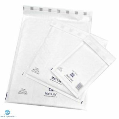 5 F3 F/3  White 220 x 330 mm Padded Bubble Wrap Mail Lite Postal Bag Envelopes