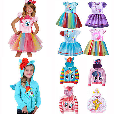 Kids Girls My Little Pony Cosplay Princess Tutu Dress Hoodie Coat Fancy - My Little Pony Tutu