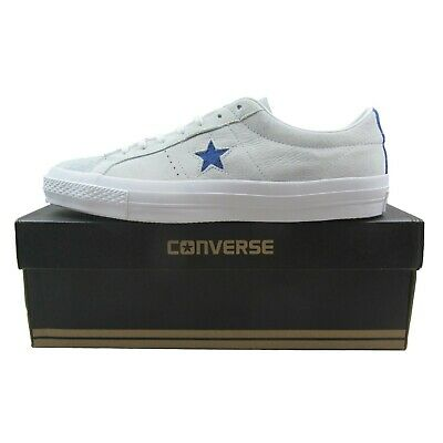 Converse One Star OX Leather Casual Shoes Roadtrip Blue White 153992C Mens Size