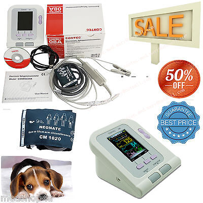 Blood Pressure Monitor Contec08a-vet Animal Veterinary Spo2 Sensorcuff. Sale