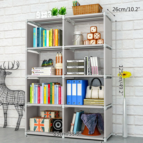 8 Cube Storage Shelf Rack Bookcase DIY Cabinet Organizer Boo