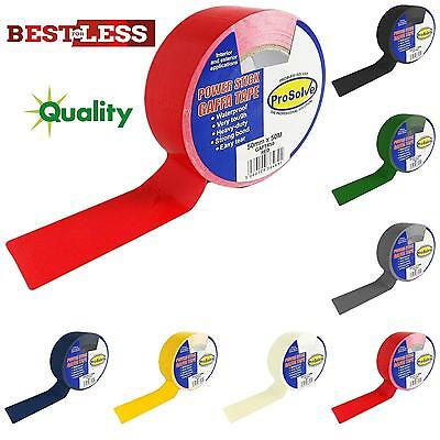 New Best Quality 50mm x 50m Roll Duck Duct Gaffer Gaffa Cloth Waterproof Tape