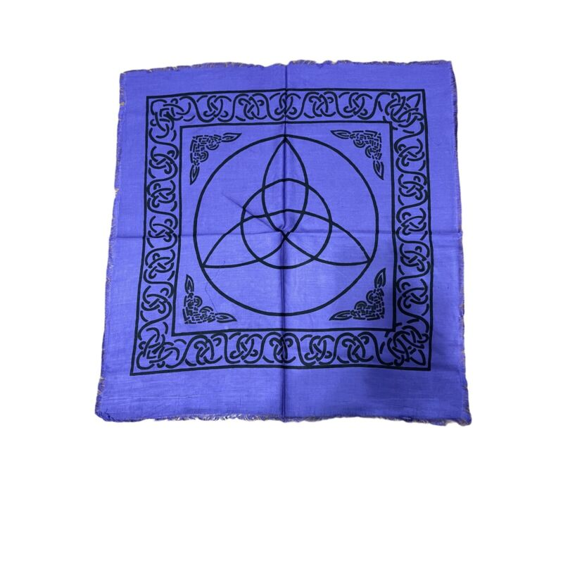 "Purple Celtic Triquetra Tarot Altar Cloth 18"" X 18"" Wicca Pagan"