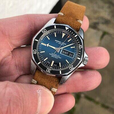 Superb vintage 1970's swiss Sicura Marine Star 600ft 17J automatic divers watch