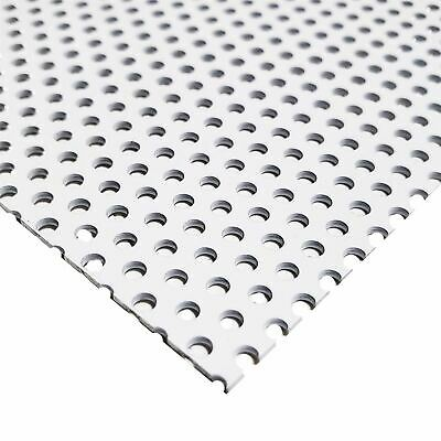 White Painted Aluminum Perforated Sheet 0.040 X 12 X 12 18 Holes