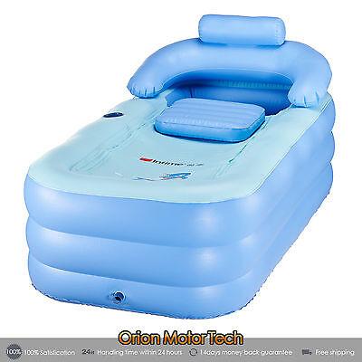 Blow Up Inflatable Bathtub Bath Tub Adult New Bath PVC Portable Spa Air Pump - Blow Up Tub
