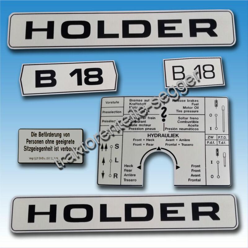 Aufkleber-Satz Aufkleber Holder B 18 6 teilig Schmalspur Traktor Schlepper  Foto 1