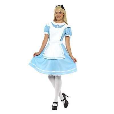 Erwachsene Damen Wonder Prinzessin Alice Im Wunderland Kostüm Märchen Kostüm