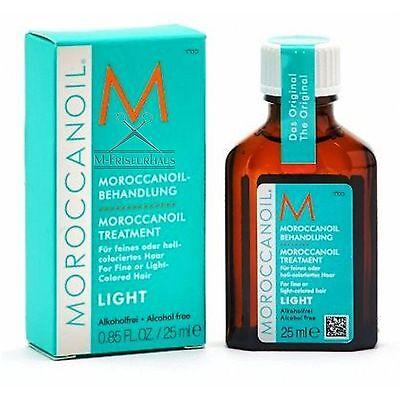 (€54,00/100ml) MOROCCANOIL Arganöl light für feines helles Haar 25 ml + BONUS