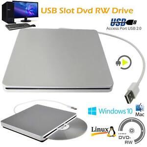 USB External Slot DVD CD RW Drive Burner Super drive Apple Mac book Pro Air iMAC
