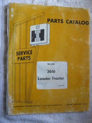 IH INTERNATIONAL HARVESTER 3616 LOADER TRACTOR PARTS CATALOG