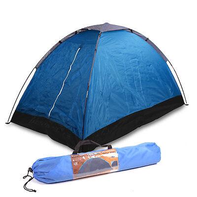 2 Mann Zelt Camping, (LxBxH) 2x1,2x1 m Festivalzelt Zweimannzelt Igluzelt blau