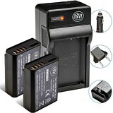 2 Pack LP-E10 Battery + Charger for Canon Rebel T3, T5, T6, T7, EOS 1200D, 1300D